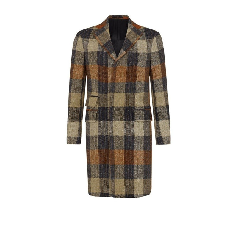 DONEGAL CHECK OVERCOAT