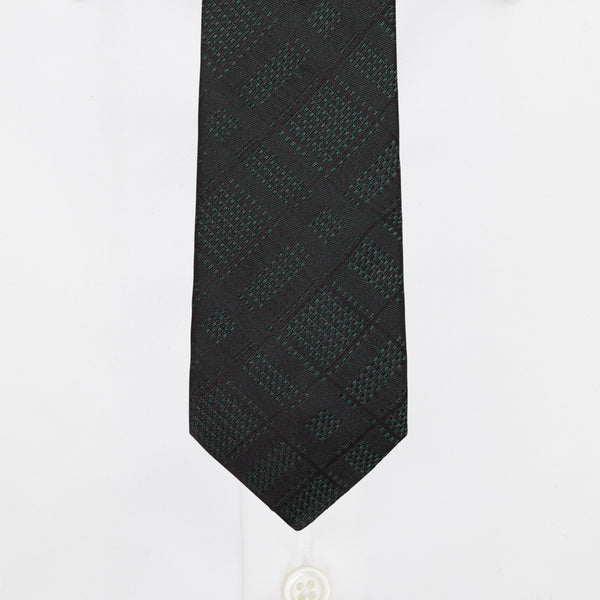 BOTTLE GREEN DIAMOND TIE