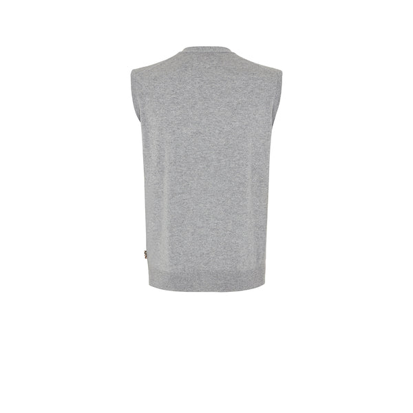 CASHMERE SLEEVELESS SWEATER