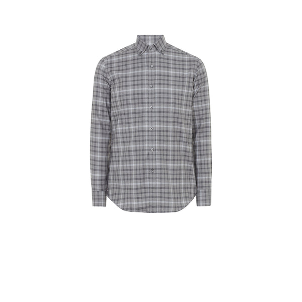 CHARCOAL GREY CHECK SHIRT
