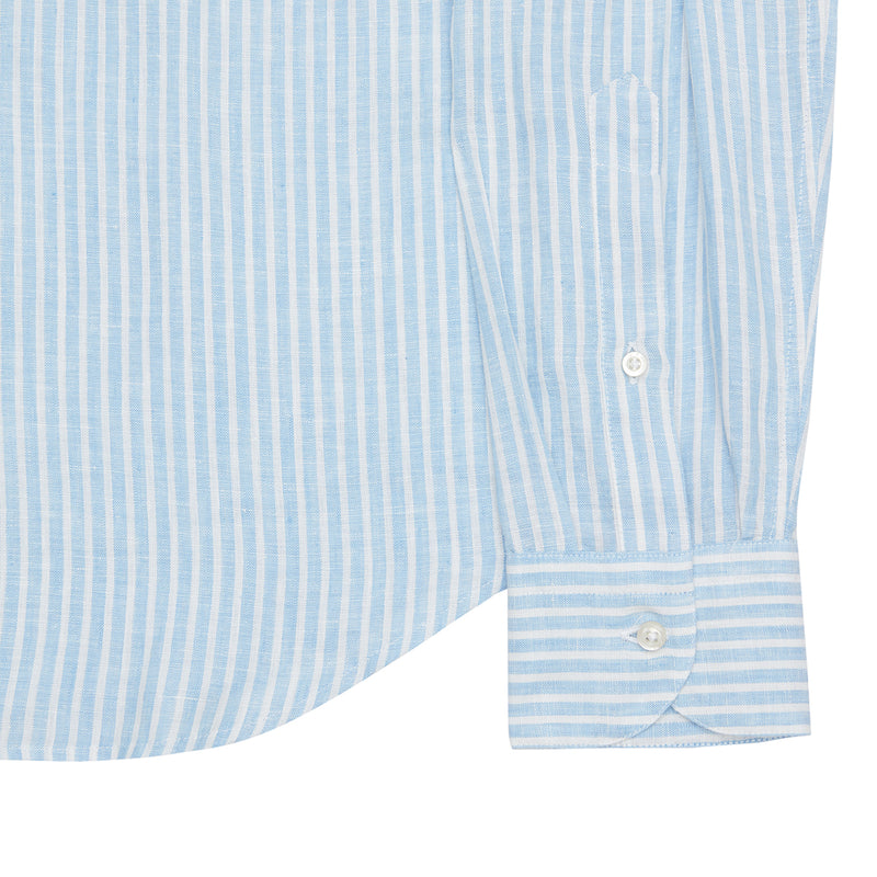 STRIPEY GRANDDAD COLLAR SHIRT