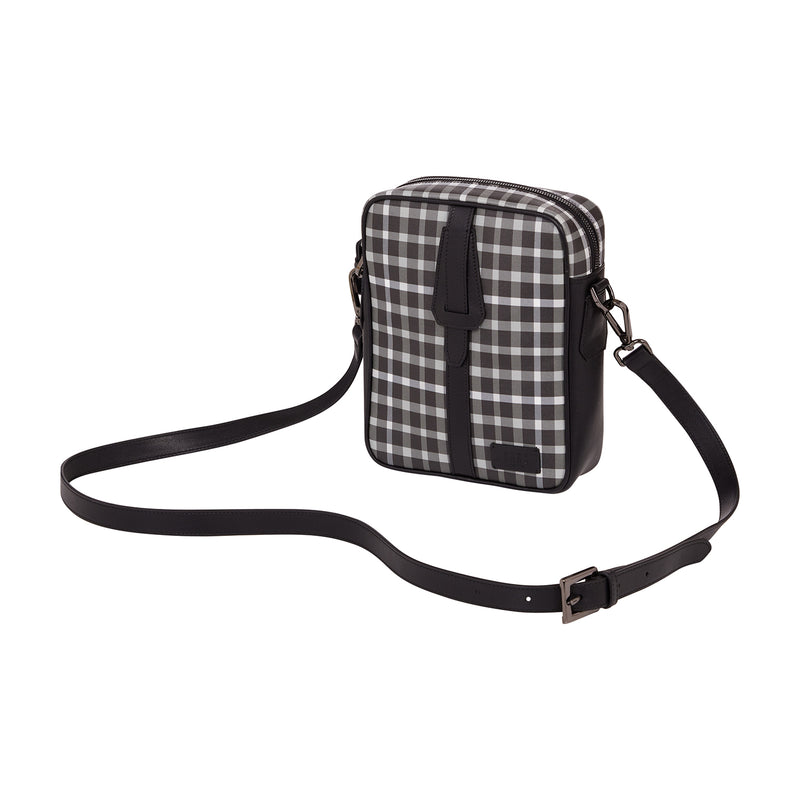 CHECK CROSS BODY BAG