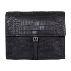 CROC EMBOSSED DOCUMENT CASE