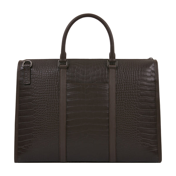 CROC EMBOSSED BRIEFCASE
