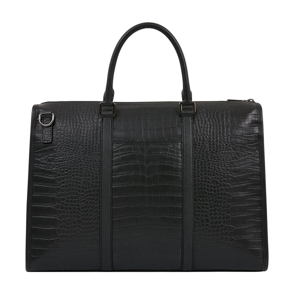 CROCO EMBOSSED BRIEFCASE