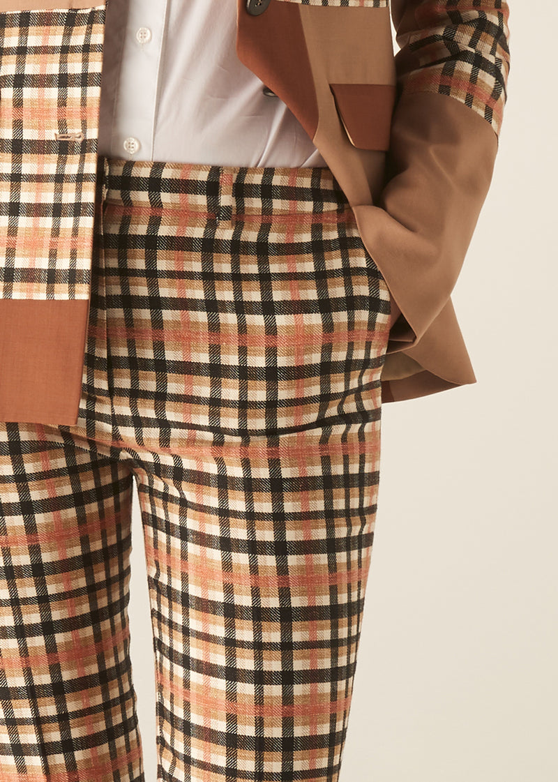ARTISAN CHECK TROUSERS