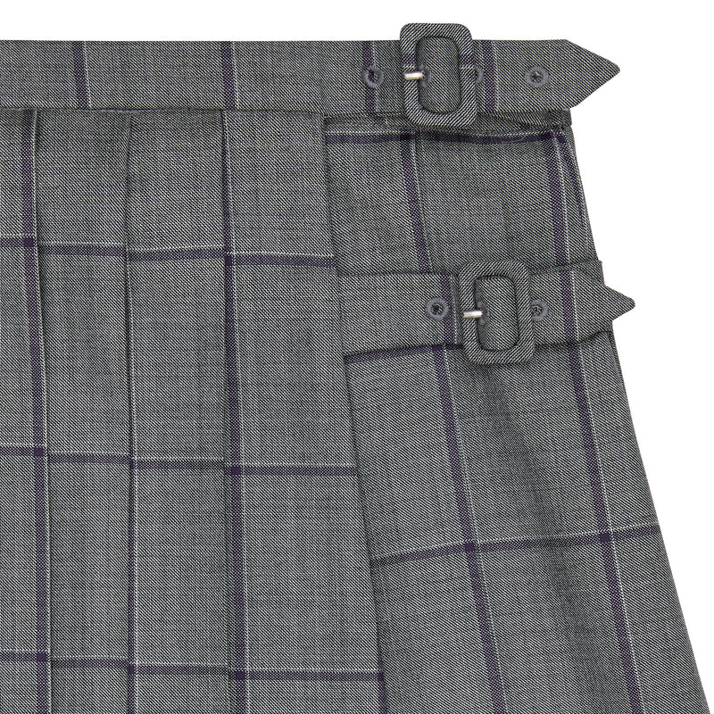 WOOLLEN CHECK A-LINE SKIRT