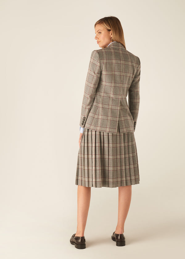 WINDSOR WINE CHECK SKIRT