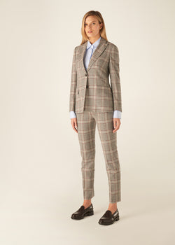 WINDSOR WINE CHECK TROUSERS