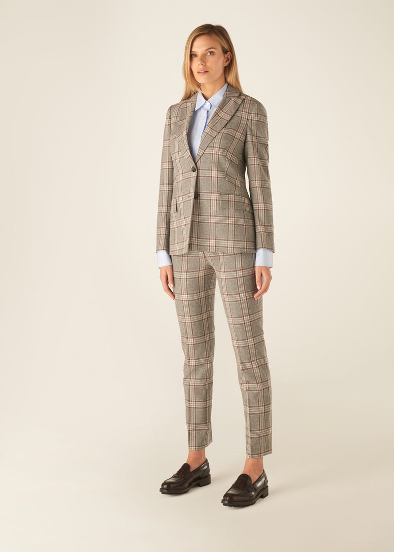 WINDSOR WINE CHECK JACKET