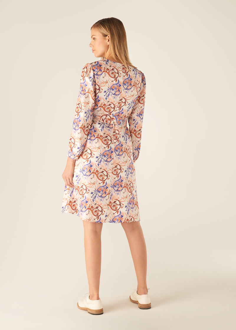 BAROQUE ALL OVER PRINT DRESS