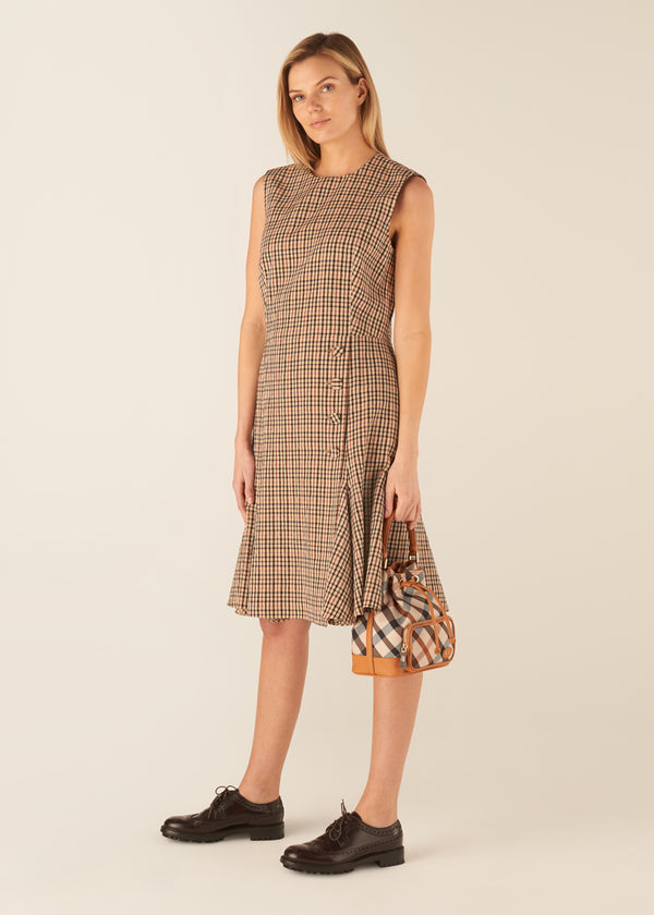 SLEEVELESS HOUSE CHECK DRESS