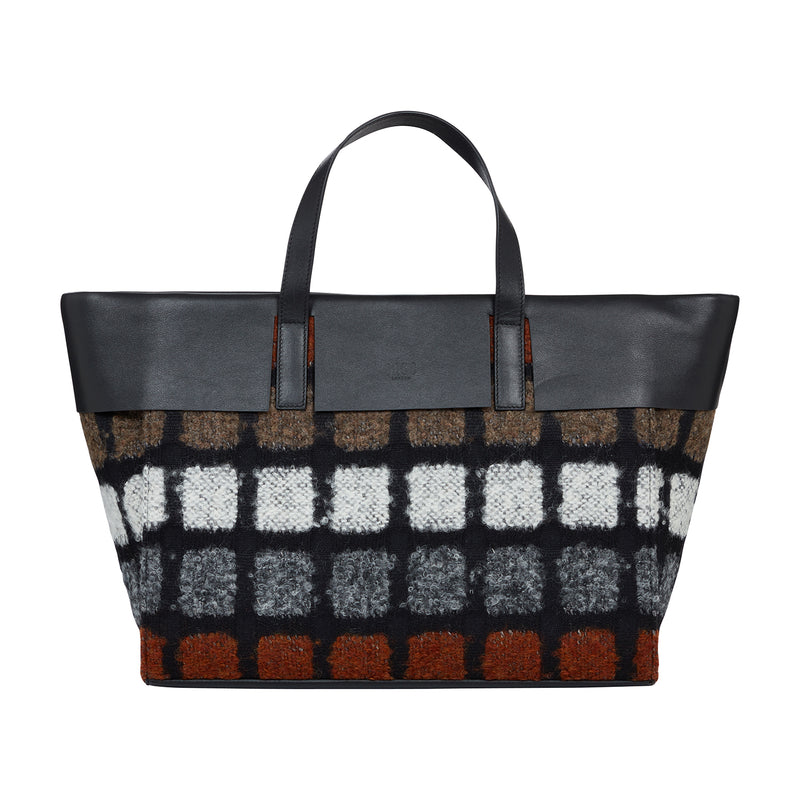 ANNIVERSARY CHECK WIDE TOTE BAG