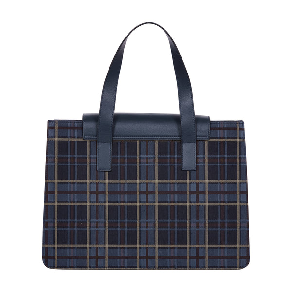 TARTAN CHECK WATERPROOF TOTE BAG