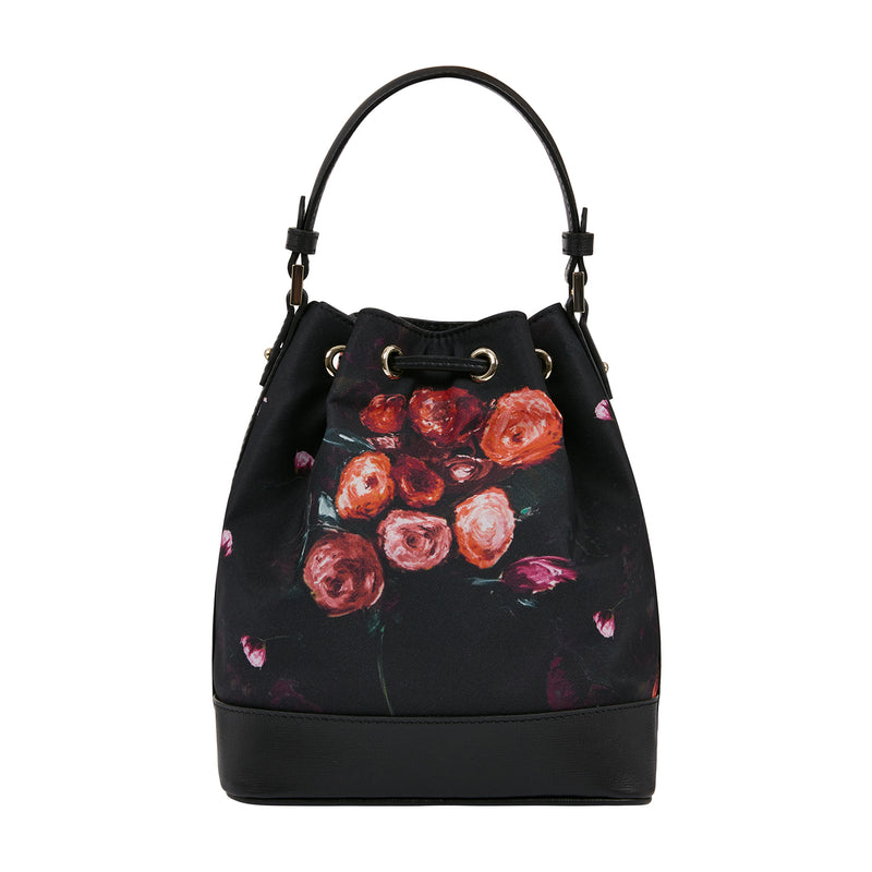 GAUGUIN PRINT TIE  BUCKET BAG