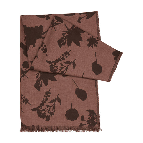 CASHMERE PRESSED FLORAL SCARF