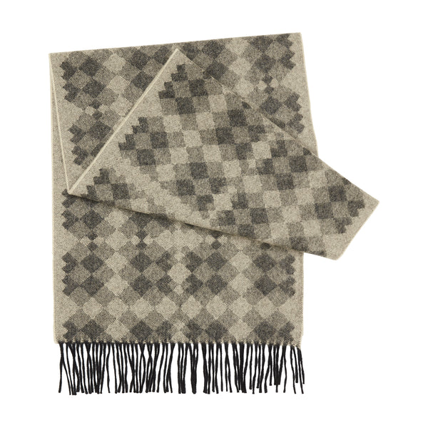 TRANSFIGURED CHECK SCARF