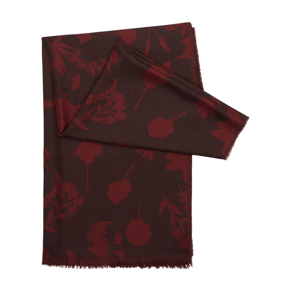 PRESSED FLOWER CASHMERE SCARF