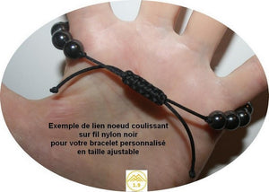 "<strong>BRACELET ENFANT HEMATITE ""UMEA BLACK MOUNTAIN""</strong>"