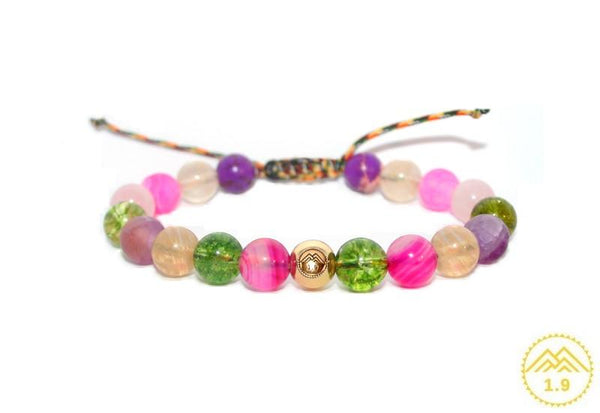 <strong>BRACELET ENFANT MULTICOLORE PIERRES ''UMEA BASOKO FRUITUAK''</strong>