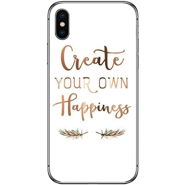 Phone CaseCreate Your Own Happiness APPLE Iphone X