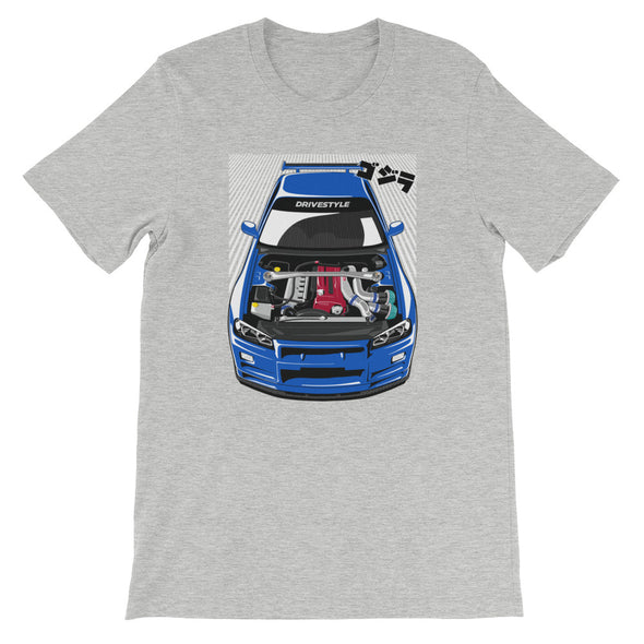 R34 GT-R & RB26 Rush Unisex T-Shirt - DRIVESTYLE