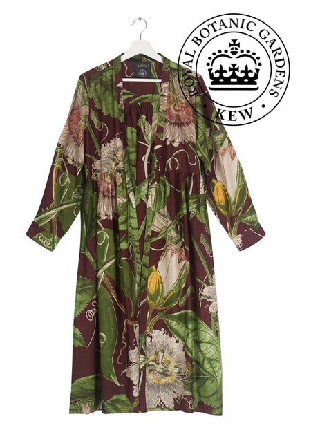 One Hundred Stars Kew iris Burgundy Kimono