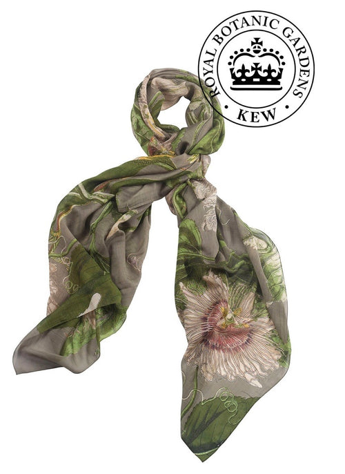 one hundred stars kew royal botanic gardens passion flower scarf