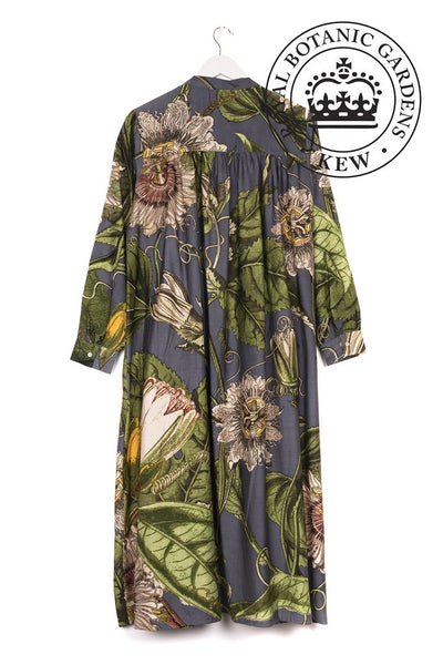 one hundred stars kew royal botanic gardens passion flower grey duster coat