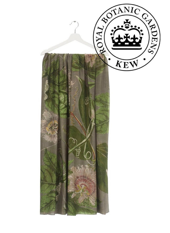 one hundred stars kew royal botanic gardens stone passion flower scarf