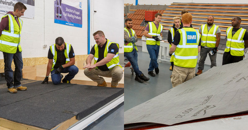 Access pitched roof and flat roofing training with BMI