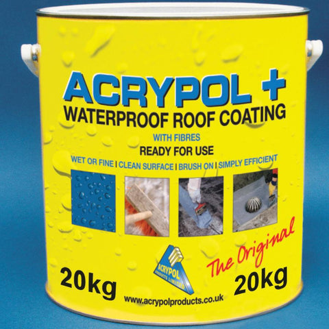 Acrypol+ With Fibres Waterproof Roof Coating 20L - White