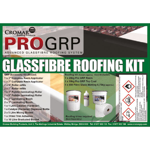 GRP 13sqm Kit - Price excludes additional cost of 20kg Resin