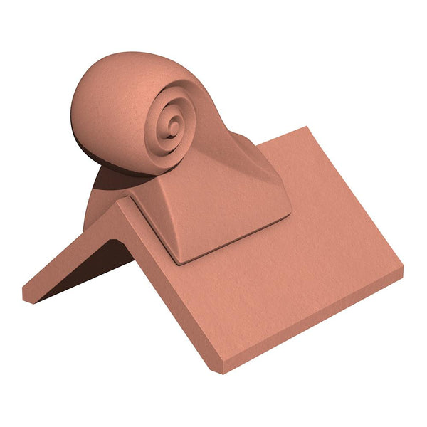 Marley Eternit Clay 305mm Scroll Finial Tile View