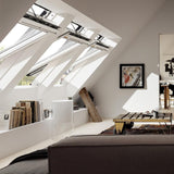 Velux White Painted 15 Degree Centre Pivot Integra Electric Roof Window additional 10