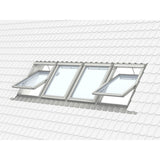 Velux White Painted 15 Degree Centre Pivot Integra Electric Roof Window additional 11