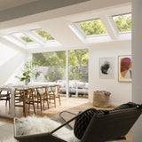 Velux White Painted 15 Degree Centre Pivot Integra Electric Roof Window additional 1