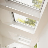 Velux White Painted 15 Degree Centre Pivot Integra Electric Roof Window additional 2