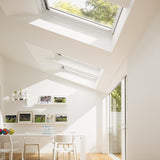 Velux White Painted 15 Degree Centre Pivot Integra Electric Roof Window additional 3