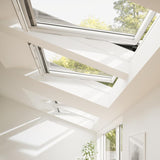 Velux White Painted 15 Degree Centre Pivot Integra Electric Roof Window additional 5