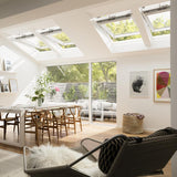 Velux White Painted 15 Degree Centre Pivot Integra Electric Roof Window additional 6