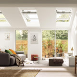 Velux White Painted 15 Degree Centre Pivot Integra Electric Roof Window additional 7