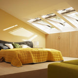 Velux White Painted 15 Degree Centre Pivot Integra Electric Roof Window additional 8