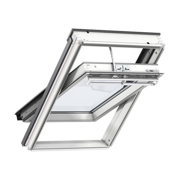 Velux White Painted 15 Degree Centre Pivot Integra Electric Roof Window