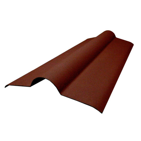 Ventura - Red Corrugated Bitumen Sheet Ridge Tile 1000mm x 450mm