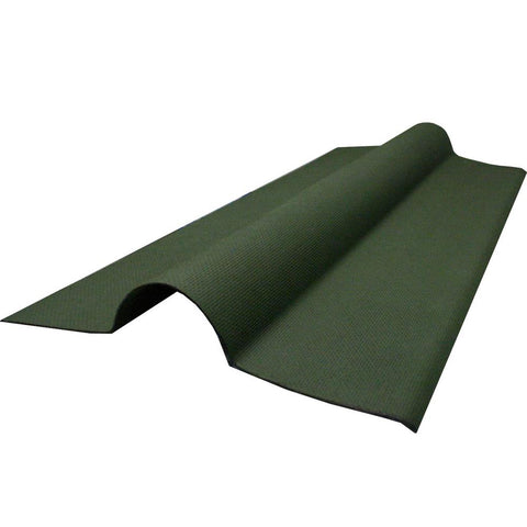 Ventura - Green Corrugated Bitumen Sheet Ridge Tile 1000mm x 450mm