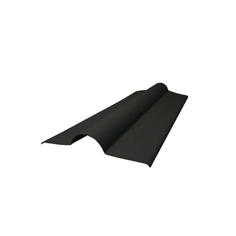 Ventura - Black Corrugated Bitumen Sheet Ridge Tile 1000mm x 450mm