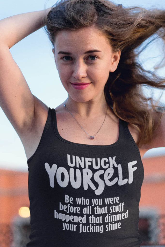 """Be Who You Were"" Tank Top"