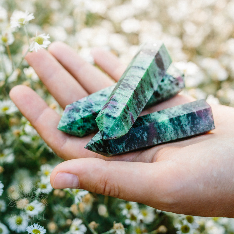Ruby Zoisite Crystal Wand