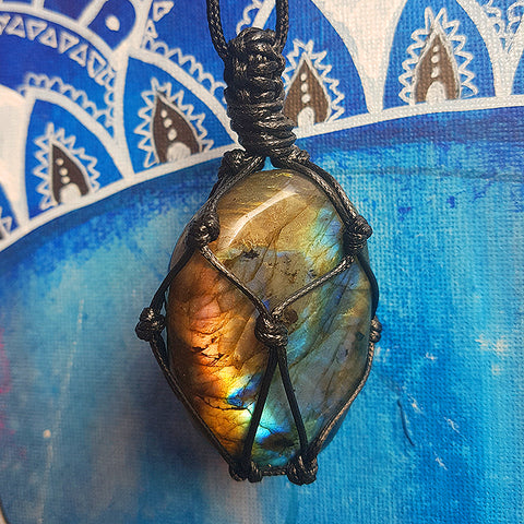 Dragons Heart Labradorite Necklace